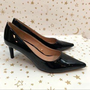 Zara | Patent Leather Black High Heel Pumps 37